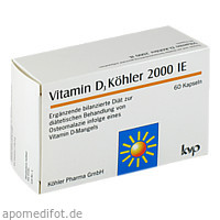 Vitamin D3 Köhler 2000 IE, 60 ST, Köhler Pharma GmbH