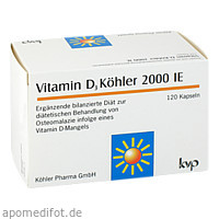 Vitamin D3 Köhler 2000 IE, 120 ST, Köhler Pharma GmbH
