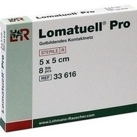 Lomatuell Pro 5x5cm steril, 8 ST, Lohmann & Rauscher GmbH & Co. KG