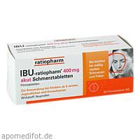 IBU-ratiopharm 400mg akut Schmerztabletten, 50 ST, ratiopharm GmbH