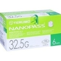 TERUMO NANOPASS 32.5 Pen Kanüle 0.22x6 mm, 100 ST, Medita-Diabetes GmbH