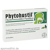 Phytohustil Hustenreizstiller Pastillen, 20 ST, Bayer Vital GmbH