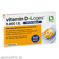 vitamin D-Loges 5.600 I.E. Wochendepot, 30 ST, Dr. Loges + Co. GmbH