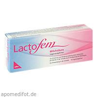 Lactofem Milchsäure Vaginalzäpfchen, 14 ST, Mibe GmbH Arzneimittel