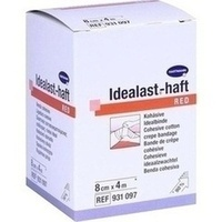 Idealast-haft color Binde 8cmx4m rot, 1 ST, Paul Hartmann AG