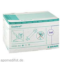 Exadoral B. Braun Orale Spritze 1ml, 100 ST, B. Braun Melsungen AG