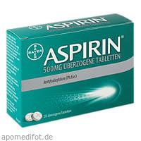Aspirin 500mg überzogene Tabletten, 20 ST, Bayer Vital GmbH