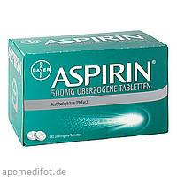 Aspirin 500mg überzogene Tabletten, 80 ST, Bayer Vital GmbH