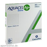 AQUACEL Ag+ Extra 15X15CM, 5 ST, Convatec (Germany) GmbH