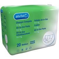 Alvita All-in-One Inkontinenzhose Maxi Medium Nach, 20 ST, The Boots Company Plc