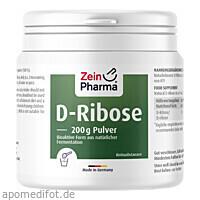 D-Ribose Pulver 200g aus Fermentation, 200 G, Zein Pharma - Germany GmbH