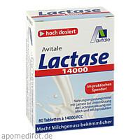 Lactase 14000 FCC Tabletten im Spender, 80 ST, Avitale GmbH