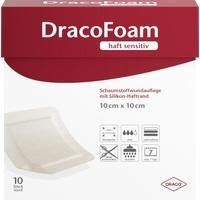 DracoFoam haft sensitiv Schaumst. 10x10cm, 10 ST, Dr. Ausbüttel & Co. GmbH