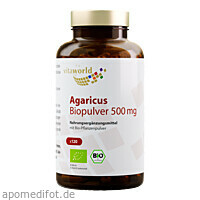 Agaricus Biopulver 500mg, 120 ST, Vita World GmbH