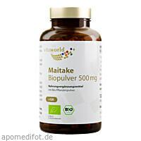 Maitake Biopulver 500mg, 120 ST, Vita World GmbH