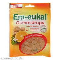 Em-eukal Gummidrops Ingwer Orange ZH, 90 G, Dr. C. Soldan GmbH