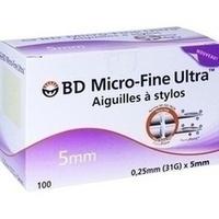 BD Micro-Fine Ultra Pen-Nadeln 0.25x5mm, 100 ST, Orifarm GmbH