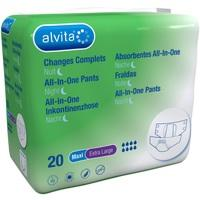 Alvita All-in-One Inkontinenzhose Maxi XLarge Nach, 20 ST, The Boots Company Plc