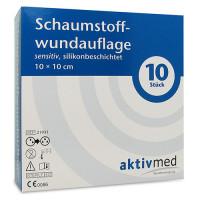 aktivmed Schaumstoffwundaufl.sensitiv silikon10x10, 10 ST, Aktivmed GmbH