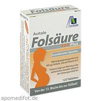Folsäure 400 Plus B12 + Jod, 120 ST, Avitale GmbH