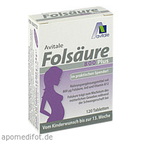 Folsäure 800 Plus B12 + Jod, 120 ST, Avitale GmbH
