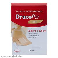 DRACOPOR Wundverband steril 3.8x3.8cm hautfarben, 10 ST, Dr. Ausbüttel & Co. GmbH