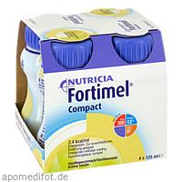 Fortimel Compact 2.4 Vanillegeschmack, 4X125 ML, Nutricia Milupa GmbH