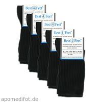 Silbersocken Diabetiker schwarz Gr. L (41-43), 5X2 ST, Bestsilver GmbH & Co. KG