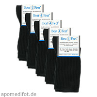 Silbersocken Diabetiker schwarz Gr. M (38-40), 5X2 ST, Bestsilver GmbH & Co. KG