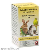 SCHÜSSLER SALZ Nr.4 Kalium chlor.D 6 f.Heimtiere, 200 ST, Dr.RECKEWEG & Co. GmbH