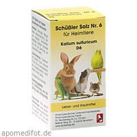 SCHÜSSLER SALZ Nr.6 Kalium sulf.D 6 f.Heimtiere, 200 ST, Dr.RECKEWEG & Co. GmbH