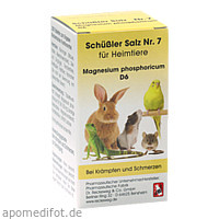 SCHÜSSLER SALZ Nr.7 Magnesium phos.D 6 f.Heimtiere, 200 ST, Dr.RECKEWEG & Co. GmbH