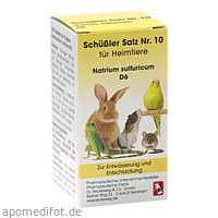 SCHÜSSLER SALZ Nr.10 Natrium sulf.D 6 f.Heimtiere, 200 ST, Dr.RECKEWEG & Co. GmbH