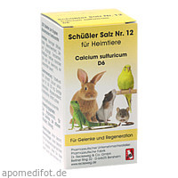 SCHÜSSLER SALZ Nr.12 Calcium sulf.D 6 f.Heimtiere, 200 ST, Dr.RECKEWEG & Co. GmbH