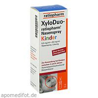 XYLODUO ratio.Nasenspr.Kind.0,5mg/ml+50mg/ml o.K., 10 ML, ratiopharm GmbH