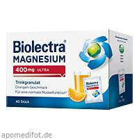 Biolectra Magnesium 400mg ultra Trinkgran. Orange, 40 ST, Hermes Arzneimittel GmbH