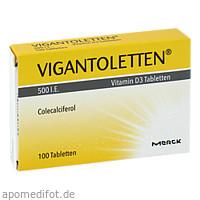 Vigantoletten 500I.E.Vitamin D3 Tabletten, 100 ST, P&G Health Germany GmbH