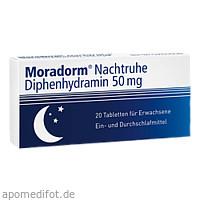 Moradorm Nachtruhe Diphenhydramin 50mg, 20 ST, Apotheker Walter Bouhon GmbH