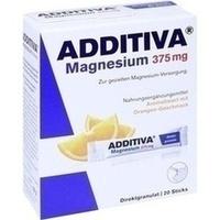 ADDITIVA Magnesium 375mg Sticks Orange, 20 ST, Dr.B.Scheffler Nachf. GmbH & Co. KG