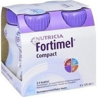 Fortimel Compact 2.4 Neutral, 4X125 ML, Nutricia Milupa GmbH