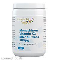 Menachinon Vitamin K2 100ug, 60 ST, Vita World GmbH