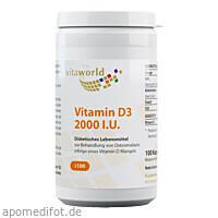 Vitamin D3 2000 IU, 100 ST, Vita World GmbH