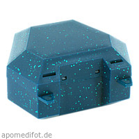 Zahnspangenbox mit Kordel Farbe Grün mit Glitzer, 1 ST, Megadent Deflogrip Gerhard Reeg GmbH