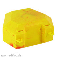 Zahnspangenbox mit Kordel Farbe Gelb/Rot, 1 ST, Megadent Deflogrip Gerhard Reeg GmbH