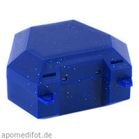 Zahnspangenbox mit Kordel Farbe Blau mit Glitzer, 1 ST, Megadent Deflogrip Gerhard Reeg GmbH
