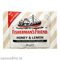 Fisherman's Friend Honey & Lemon ohne Zucker, 25 G, Queisser Pharma GmbH & Co. KG