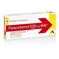Paracetamol 500 mg elac, 20 ST, Interpharm GmbH