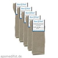Silbersocken Diabetiker beige Gr. S (35-37), 5X2 ST, Bestsilver GmbH & Co. KG