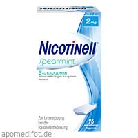 Nicotinell Spearmint 2 mg Kaugummi, 96 ST, GlaxoSmithKline Consumer Healthcare