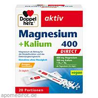 Doppelherz Magnesium + Kalium direct, 20 ST, Queisser Pharma GmbH & Co. KG